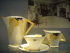 Eric Slater Sunray tea set: London art deco - http://www.tutorfrog.com/eric-slater-sunray-tea-set-london-art-deco/  #Toys #cooltoys