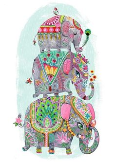 Project: Greeting card Client: Design House Greetings Client: Oopsy Daisy Illustrations: Miriam Bos copyright by Miriam Bos please don't use without permission Image Elephant, Indian Elephant Art, Elephant Love, Elephant Design, Baby Elephants, Elephant Wallpaper, Animal Wallpaper, Elephant Illustration, Cute Illustration