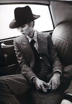 suit | hat