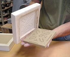 Making cavity molds for handmade ceramic tiles