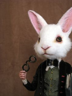 quite a smart bunny-- everything on the board anthropomorphism is wonderful!!