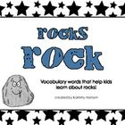 Designed with kids in mind, this package includes 24 vocabulary terms about rocks plus a student booklet. You can use the vocabulary cards to intro...