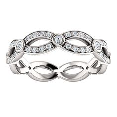 3/8 CTW or 1/4 CTW Diamond Eternity Band, click to be directed for purchase!