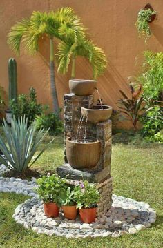 Front Yard Landscaping Ideas - Take these affordable and also easy landscape design ideas for a lovely backyard. Garden Landscape Design, Small Garden Design, Landscape Curbing, Landscape Designs, Landscape Architecture, Amazing Gardens, Beautiful Gardens, Garden Fountains, Fountain Garden