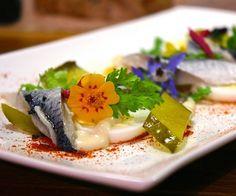 Herring Salad with Edible Flowers