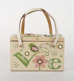 "Enid Collins ""Love"" Box Bag"