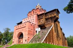 Kyiv, Ukraine. The Golden Gate of Kiev is magnificent ancient monument from the 11th century. It was built during the reign of Yaroslav Mudry so that it can compare with the entrance gate of Constantinople. The Golden Gate served as a fortification in order to save the city from the numerous tribe attacks.