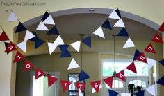 Ahoy It's a Boy - Baby Shower - The Lilypad Cottage- bunting