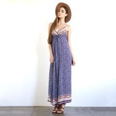 I love this look. Cancun Maxi Dress Navy
