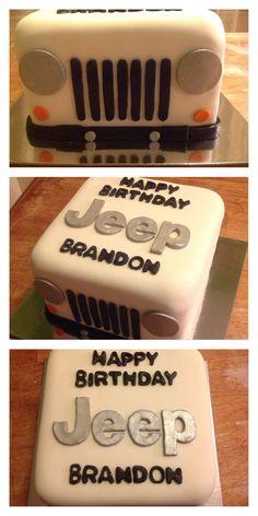 Old Man Birthday, Sweet 16 Birthday, 6th Birthday Parties, 16th Birthday, Birthday Ideas, Jeep Cake, Hunting Birthday Cakes, Birthday Cookies, Cake Logo