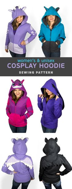 Hi everyone! This new pattern has been SO long in the works – so I can't thank everyone enough for your patience! It's definitely one of my most requested patterns. An animal themed cosplay hoodie!…