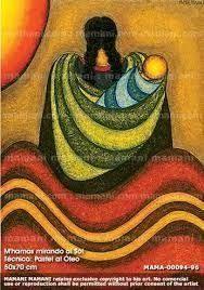 Resultado de imagen para coyas pinturas Arte Latina, Navajo Art, Peruvian Art, Creation Couture, Mexican Folk Art, Native Art, Fabric Painting, Face Art, Indian Art