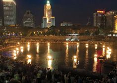 Photograph by Jeffrey Stolzberg  WaterFire Providence® ignites the basin in Waterplace Park with the lighting of the bonfires; bringing people, light, and celebration to the city. #waterfire #providence