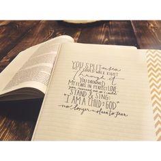 No longer slaves // bethel music // journal bible #journalforjesus // we will not be shaken