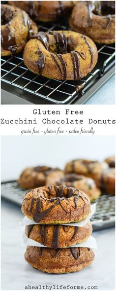 Gluten Free Zucchini Chocolate Donuts are an easy delicious baked donut recipe that is dairy free and paleo friendly. - A Healthy Life For Me