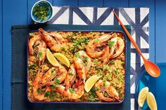 Shannon Bennett& take on the classic paella is ready in minutes - perfect for outdoor dining midweek.