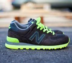 "New Balance 574 ""Neon"" – Grey / Yellow"