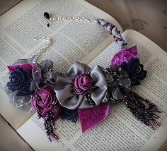 @: Mixed...beads, lace, fabric, findings...gorgeous!
