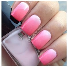 Want a funny summer manicure, but think pink nail designs are not your thing? Miss N … - Nail Designs! Ombre Nail Designs, Nail Art Designs, Nail Art Diy, Diy Nails, Gorgeous Nails, Love Nails, French Nails Glitter, Pink Ombre Nails, Pink Nail