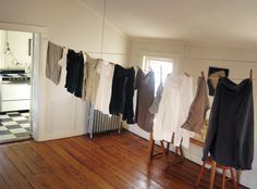 indoor clothesline
