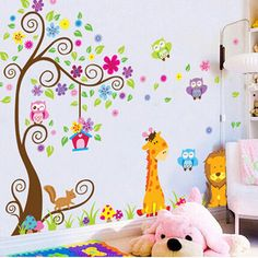 Owl Lion Tree Wall Stickers Removable Wallpaper Cartoon Children Rooms Decor //Price: $12.48 & FREE Shipping //     #wallstickerforbedroom #wallstickerforlivingroom #wallstickerforkids #wallstickerforkitchen #3Dwallsticker #removeablewallsticker #treewallsticker ##3wallstickers#3dbutterflywallstickers #3dmirrorwallstickers #3dwallsticker #3dwallstickermalaysia #3dwallstickers #3dwallstickersamazon #3dwallstickersaustralia #3dwallstickersbeach #3dwallstickersebay #3dwallstickerspakistan…