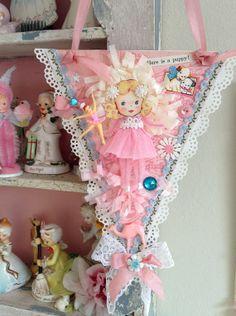 Vintage Style Pink Whimsical Sweet Girl Keepsake by saturdayfinds, $17.00