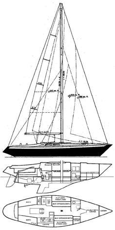 Ericson 37 drawing on sailboatdata.com