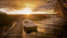 Sunset boat by Mirco_Photography