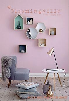 Bloomingville AW 2013, love the hexagon shelf