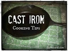 Cast Iron Cooking Tips : Cast iron cooking tips including how to season a skillet, which pans to buy, how many to buy, what fats to cook with, how to care for your pans. Dutch Oven Cooking, Cooking For Two, Cooking Tips, Cooking Recipes, Food Tips, Cooking Bacon, Pan Cooking, Cooking Beets, Cooking Cake