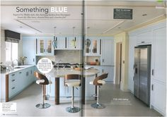 This calming blue Davonport kitchen as featured in Period Idea's 100 Beautiful Kitchens magazine.
