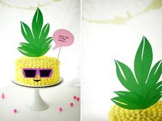 Sometimes all you need in your life is a pineapple-shaped birthday cake sporting some rad '80s sunnies.