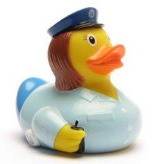 Badeente Polizistin Rubber Duck Police female