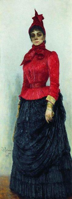 Портрет баронессы В. И. Икскуль фон Гильденбандт. 1889. Илья Ефимович Репин