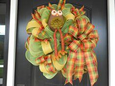 Fall Owl Wreath.... $70