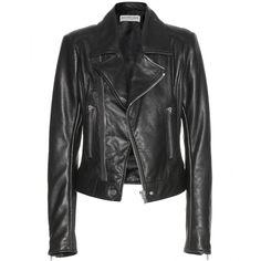 Balenciaga Leather Biker Jacket found on Polyvore