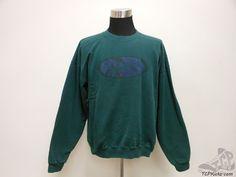 Vtg 90s Mens Nike Air Crewneck Sweatshirt sz L Large Swoosh Green  #Nike #SweatshirtCrew #tcpkickz