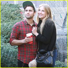 veronica dunne hair | veronica-dunne-max-ehrich-cute-christmas-tree-couple.jpg