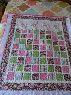 Bunny Baby Quilt- fun quilting idea for charm blocks