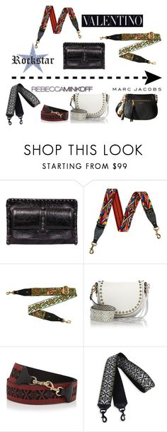 """""""Adore this trend: guitar strap bags"""" by musicfriend1 ❤ liked on Polyvore featuring Valentino, Rebecca Minkoff and Marc Jacobs"""