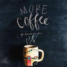 more coffee please! Coffee Talk, Coffee Is Life, I Love Coffee, Black Coffee, Hot Coffee, Coffee Drinks, Coffee Cups, Coffee Lovers, Coffee Girl