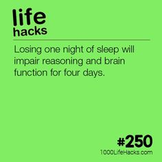 What Losing One Night of Sleep Does To Your Brain Life Hacks) The post – What Losing One Night of Sleep Does To Your Brain appeared first on 1000 Life Hacks.The post – What Losing One Night of Sleep Does To Your Brain appeared first on 1000 Life Hacks. Simple Life Hacks, Useful Life Hacks, Hack My Life, Life Skills, Life Lessons, Health Tips, Health And Wellness, Wellness Tips, Mental Health