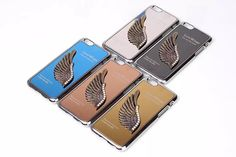 Luxury 3D Chrome Hard Back Love Wings Cover For iPhone 6 Plus via Luxury Defense. Click on the image to see more!