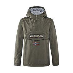 """Napapijri Rainforest M Camou Mens Jacket: Ajustement Régulier Notre Modèle Porte Une Taille L Et 192 Cm/6 ' 3"""" Haut Anorak Hooded Pullover…"""