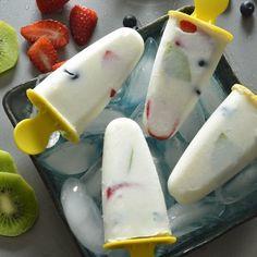 Paletas Heladas de Yoghurt con Fruta