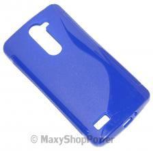 SSYL CUSTODIA S-LINE TPU SILICONE BACK COVER CASE LG L BELLO D335 BLU BLUE- SU WWW.MAXYSHOPPOWER.COM