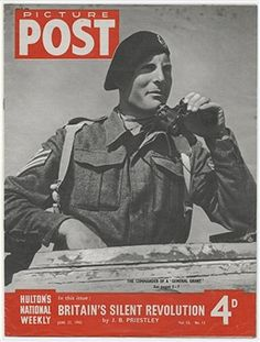 the cover of picture post magazine showing the british commander of a general grant tank m3 leenorth