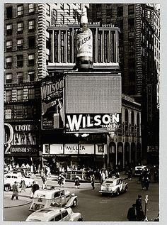 1940's Douglas Leigh animated billboard.. Hampton Inn Manhattan-Times Square North Hotel, NY - #timessquare #NYC #hotel @HamptonInnTSQN