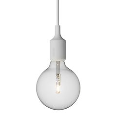 Light grey E27 socket lamp by Muuto.