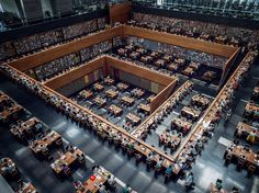 This is the Study Hall at the National Library of China.